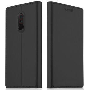 Akashi Etui Folio Porte Carte Noir Xiaomi Pocophone F1
