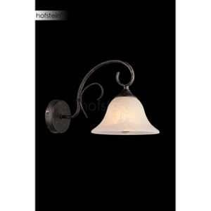 Globo Lighting Applique verre optique L33 x l19 x h21,5 cm - Bronze - Applique couleur rouille - verre optique albâtre - 190x215 - OH:330 - Ampoule non incluse 1xE27 60W 230V