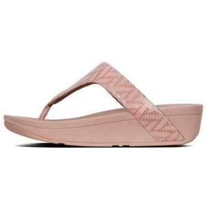 FitFlop Tongs LOTTIE CHEVRON SUEDE rose - Taille 36,37,38,39,40,41
