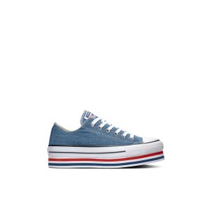 Converse Chaussures casual Chuck Taylor All Star basses en toile EVA Layers Plateforme Bleu - Taille 39,5