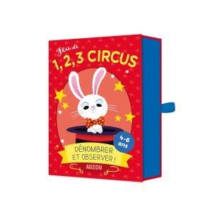 Editions Auzou Jeu 1, 2, 3 Circus : dénombrer et observer