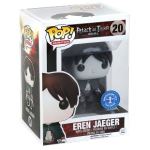 Funko Figurine Pop! Attaque Des Titans : Eren Yeager Black & White