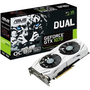 Asus DUAL-GTX1070-O8G - Carte Graphique GeForce GTX 1070 8 Go PCI Express