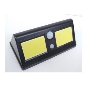 Nityam Applique solaire LED COB avec detecteur - Angle 360° - Distance détect 5 m - 15 lm veille - Panneau solaire en Polycristal - 20 x 18 x 6 cm - 400 lumens - 15 lm en veille - 6000K - Clippage au mur