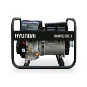 Hyundai Groupe électrogène poste à souder HYKW220dc moteur essence monophasé