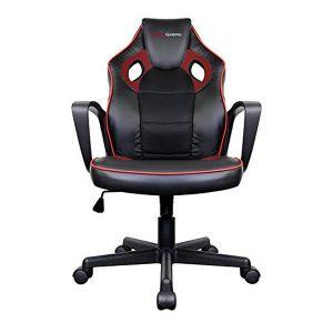 Tacens Chaise de jeu MGC0BR Metal PVC Noir Rouge