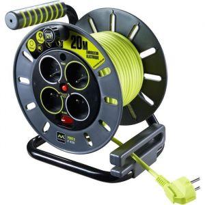 Masterplug Enrouleur de bricolage 20 m H05VV-F 3G1,5 avec disjoncteur thermique