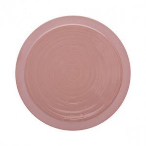 Guy Degrenne Assiette plate ronde 23cm rose sable en grès - A l'unité - Bahia