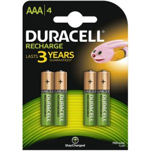 Image de Duracell 4 piles rechargeables NIMH - AAA / HR3