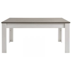 Duke - Table avec allonge coloris blanc