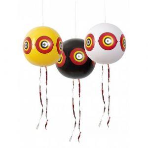 Ribimex Lot de 3 ballons effaroucheurs diam 40cm jaune/blanc/noir