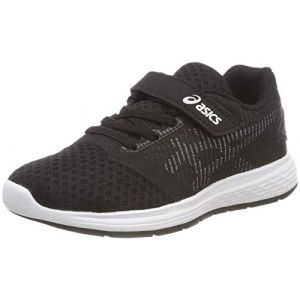 Asics Patriot 10 PS, Chaussures de Running garçon, Multicolore (Black/White 001), 31.5 EU