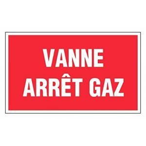 Novap Panneau prévention incendie - vanne arret gaz