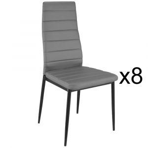 """Menzzo Lot de 8 Chaises Design """"Kaïus"""" 95cm Gris"""
