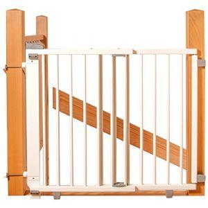 Geuther Barrière d'escalier Pivotante Plus Blanc 67 cm