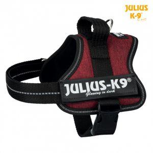 Julius K9 Harnais Power - Mini - M : 51-67 cm-28 mm - Fuchsia - Pour chien - En nylon - Intérieur en cuir véritable de haute qualité - Coloris : fuchsia - Pour chien.