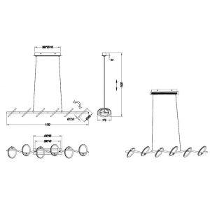 Trio Suspension OLYMPUS LED Chrome, 6 lumières - Moderne - Intérieur - OLYMPUS - Délai de livraison moyen: 4 à 8 jours ouvrés. Port gratuit France métropolitaine et Belgique dès 100 ?.