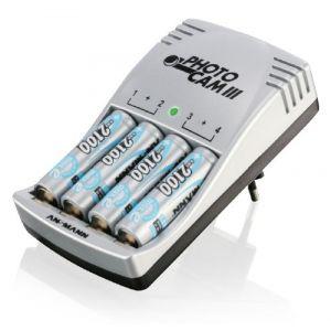 Ansmann Photocam III maxE - Chargeur avec 4 accus préchargés 2100 mAh