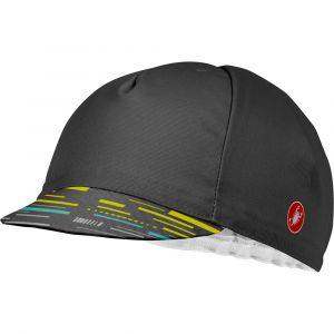 Castelli Couvre-chef Tr Cycling - Dark Grey / Yellow Fluo - Taille One Size