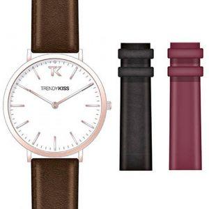Trendy Kiss CTK-01 - Coffret montre pour femme avec 3 bracelets