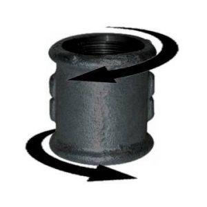 Codital Manchon 26x34, droite gauche noir