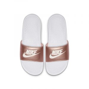 Nike Claquette Benassi pour Femme - Blanc - Taille 39 - Female