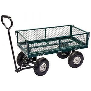 Tim Draper Tools Chariot de jardin maille Acier 86,5x46,5x21 cm Vert/noir