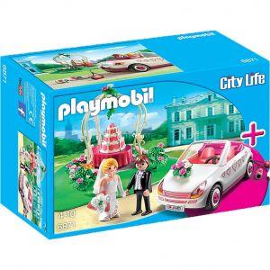Playmobil 6871 City Life - Set couple de mariés avec voiture (mariage)