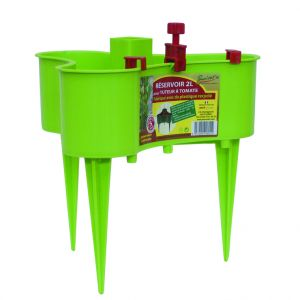 Pouss'vert Réservoir 2L système de goutte à goutte pour tuteur à tomate - vert anis