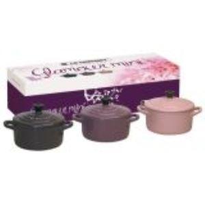 Le Creuset Set de 3 mini cocottes ronde en céramique (10 cm)
