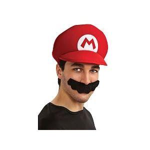 Casquette et moustache Mario Bros