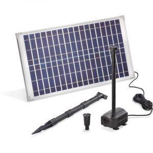 Esotec Pompe solaire pour bassin 25W 875 l/h Pompe solaire pour bassin de jardin Fontaine 101913