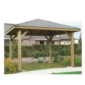 Image de Solid Kiosque de jardin 19,1 m², Toiture Shingle vert, Ancrage Aucun