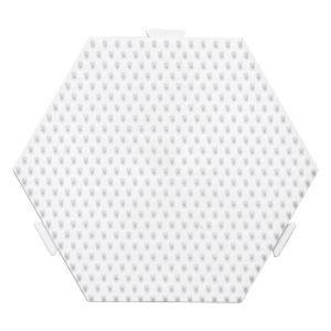 Hama Plaque hexagonale blanche - MIDI - Pour perles