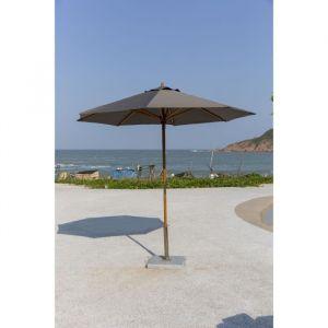 Finlandek Parasol de jardin imperméable de 2,5m - En bois d'eucalyptus - Toile imperméable en polyester - Dimensions ouvert : 250x250x260cm.