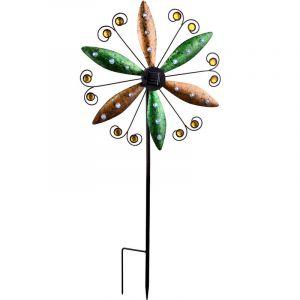 Globo Conception de moulin à vent rouillé de lumière solaire de LED, CAT