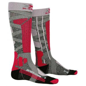 X-Socks Chaussettes Ski Rider 4.0 Lady Femme, Gris/Rose, FR Taille Fabricant : XS(35-36)