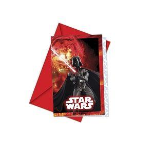 Procos 6 invitations & enveloppes Star Wars Côté Obscur