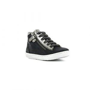 Kickers Sirena, Sneakers Haute Fille, Noir, 34