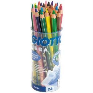 Giotto Crayons de couleurs méga - Etui de 24