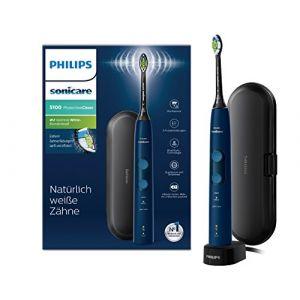 Philips Sonicare Hx6851/53 Protect Ive- Clean 4500 Brosse À Dents Électrique Avec Technologie Sonique, Bleu Foncé,
