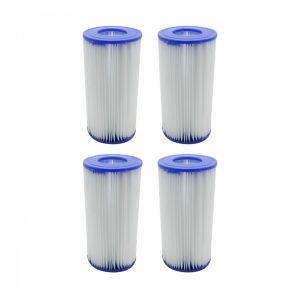 Linxor Lot de 4 cartouches de filtration pour pompe de piscine - Type III - A/C