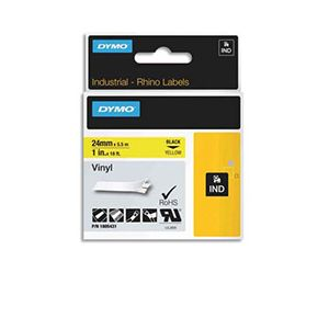 Dymo 1805431 - Ruban en vinyle 24 mm noir / jaune