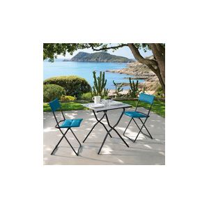 Lafuma Anytime air comfort - Chaise de jardin pliante en acier avec matelas
