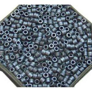 Rayher Perles Miyuki Delica 10/0 métallic dépoli bleu gris - DMB 301