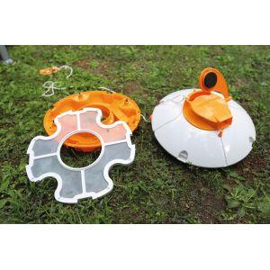 Bestway Robot aspirateur de piscine autonome Fresbee - Débit 2520 l/h