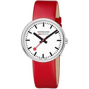 Mondaine A7633036211SBC - Montre pour femme avec bracelet en cuir