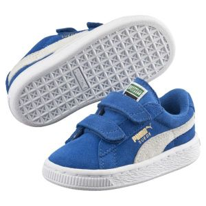 Puma Sneakers Basses mixte enfant, Bleu (Snorkel Blue/White), 27 EU