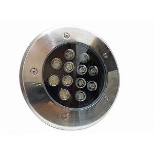 Silamp Spot Extérieur Encastrable Sol LED 12W IP65 60 - couleur eclairage : Blanc Chaud 2300K - 3500K