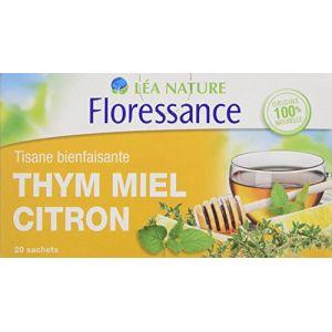 Floressance Thym / Miel / Citron - Tisane bienfaisance, 20 sachets